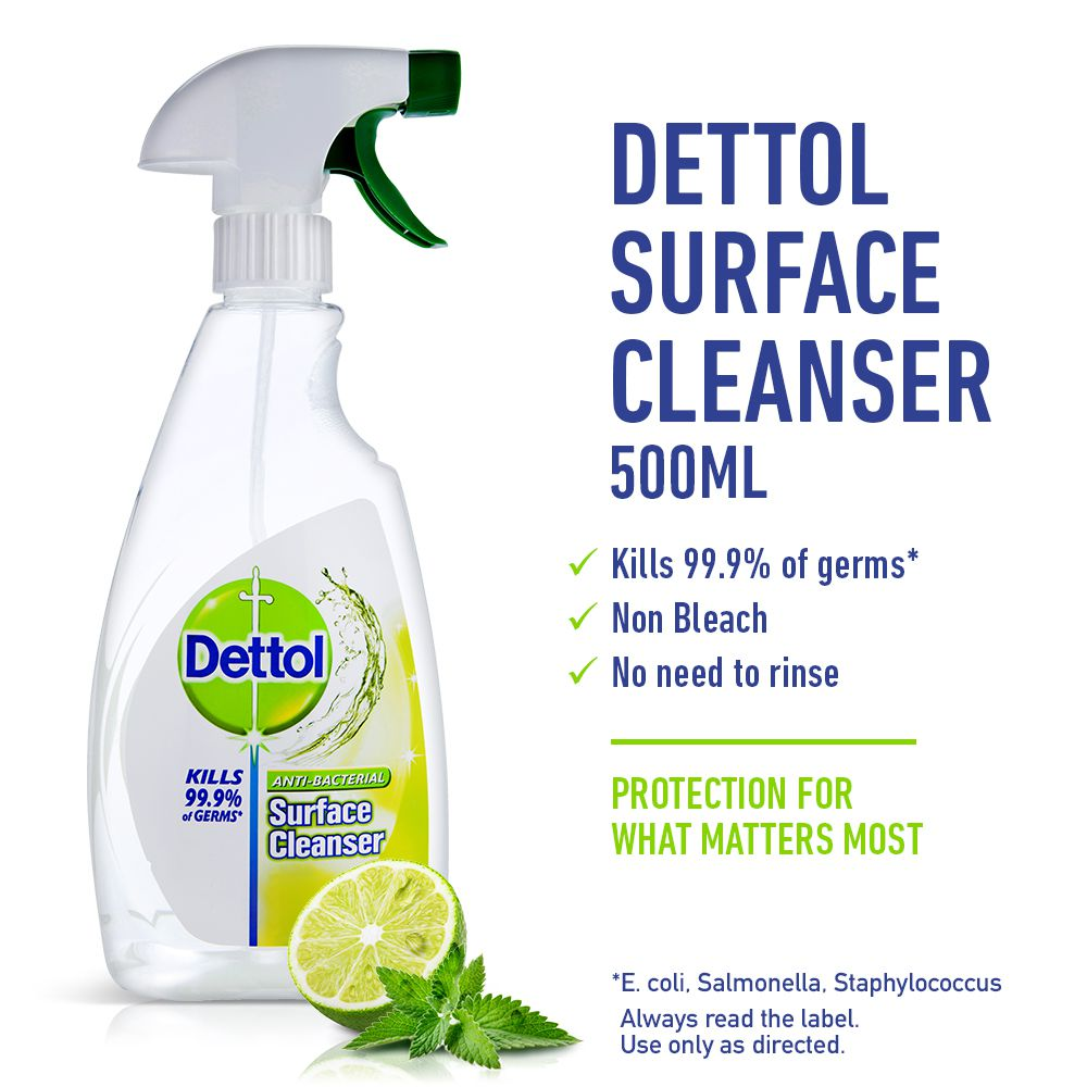 Dettol Antibacterial Surface Cleanser Trigger Lime & Mint 500ml