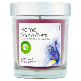 Air Wick Home Signature Lidded Candle - Water Iris & Purple Berries