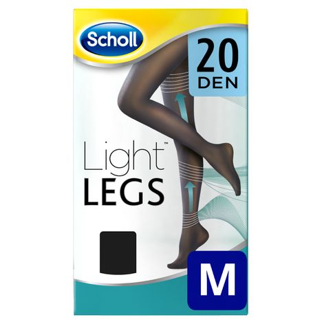 Medias de compresión ligera Scholl Light Legs 20 DEN color negro M