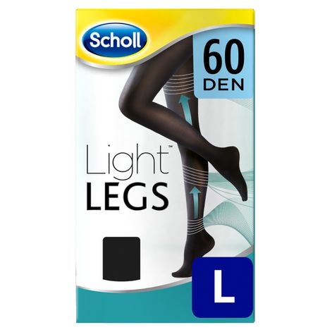 Medias de compresión ligera Scholl Light Legs 60 DEN color negro L