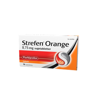 Strefen Orange sugetabletter 16 st