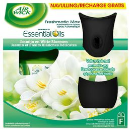 Freshmatic MAX Starter Kit BLACK Touch of Luxury Jasmijn en Witte Bloemen