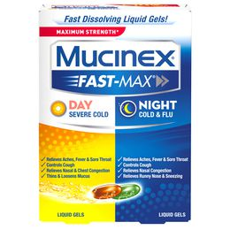 Maximum Strength* MUCINEX® Fast-Max® Day Severe Cold & Night Cold & Flu (Combo Pack) (liquid gels)