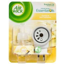 Air Wick Essential Oils Plug In Diffuser and Refill Vanilla and Soft Cashmere