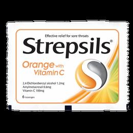 Strepsils 使立消橙味.維他命C喉糖