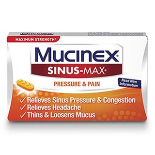 Maximum Strength Mucinex® Sinus-Max® Pressure & Pain Caplets