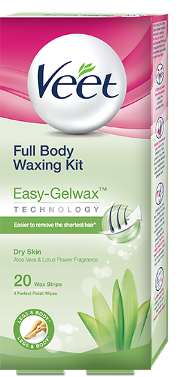 Veet Ready to Use Wax Strips  Full Body Waxing Kit - Dry Skin