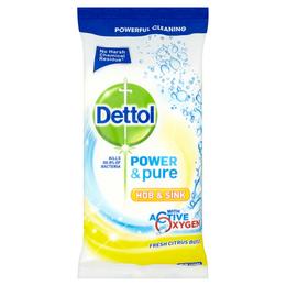 Dettol Power & Pure Hob & Sink Citrus Wipes 72s