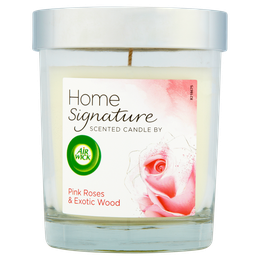 Air Wick Home Signature Lidded Candle- Pink Roses & Exotic Wood