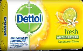 Sabun Anti Bakteri Dettol Fresh (4+1 105g)