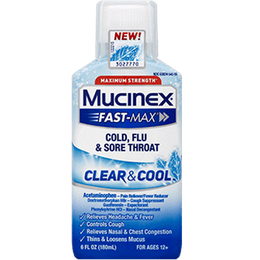 Maximum Strength Mucinex® Fast-Max® Clear & Cool, Cold, Flu & Sore Throat