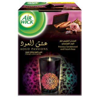 Aoud Passions Precious Sandalwood and French Rose Glowing Candle