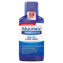 Maximum Strength Mucinex® Fast-Max® Cold, Flu and Sore Throat, Liquid