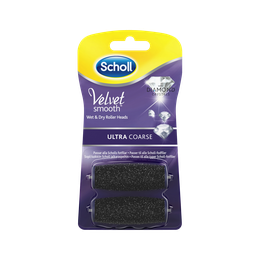 Scholl Velvet Smooth Refills med diamantkristaller - Ultra Coarse 2 st.
