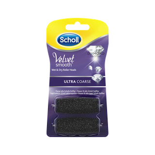 Scholl Velvet Smooth Refills med diamantkristaller - Ultra Course 2 st.