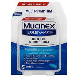 Maximum Strength* MUCINEX® Fast-Max® Cold, Flu & Sore Throat (caplets)