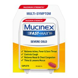 Maximum Strength* MUCINEX® Fast-Max® Severe Cold (caplets)