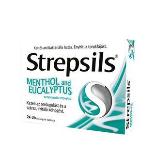 Strepsils Menthol and Eucalyptus szopogató tabletta 24 db