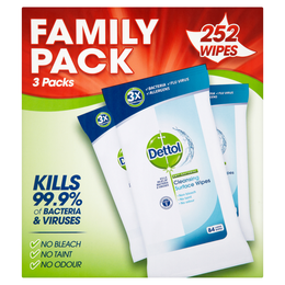 Dettol Surface Cleanser Wipes 252s