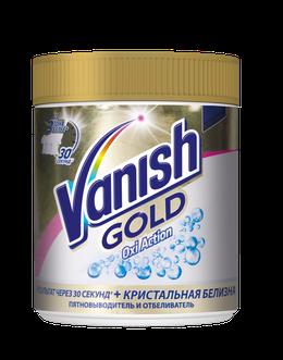 Vanish Gold Oxi Action Кристальная белизна Пятновыводитель и отбеливатель для тканей порошкообразный 500г