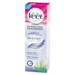 Veet Crema Depilatoria Corporal Silk&Fresh Pieles Sensibles