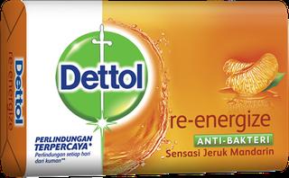 Sabun Anti Bakteri Dettol Re-Energize (4+1 105g)