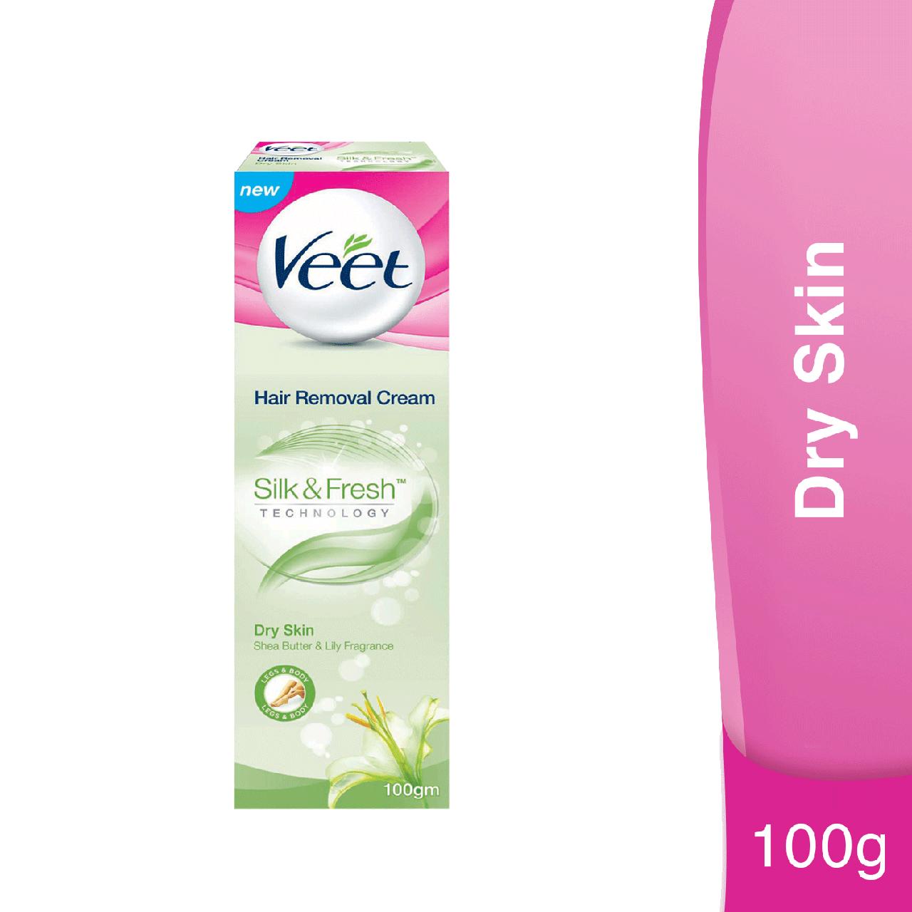 The New Veet Silk Fresh Hair Removal Cream For Dry Skin 50gm