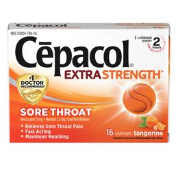 Sore Throat Tangerine Lozenges