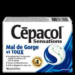 Cépacol Sensations – Mal de gorge et toux