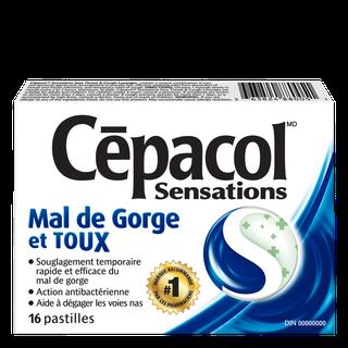 Cepacol sensations mal de gorge et toux