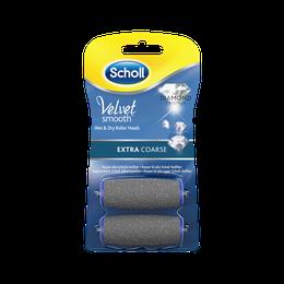 Scholl Velvet Smooth Refills med diamantkrystaller  - Extra Coarse 2 stk.