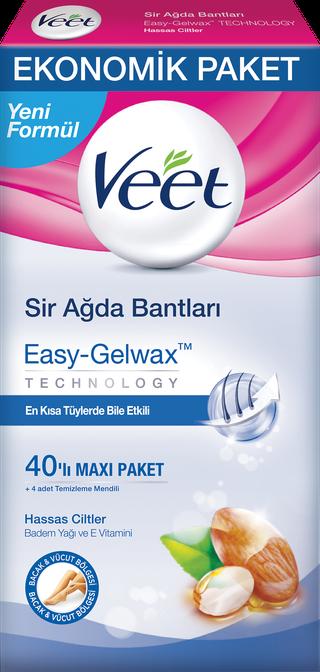 Veet® Easy Gelwax-Technology™ Sir Ağda Bantları 40'lı - Hassas Ciltler
