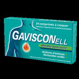 Gavisconell Comprimes a Croquer Menthe Sans Sucre