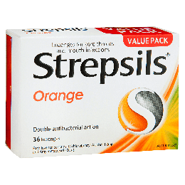 Strepsils Orange Lozenges 36s