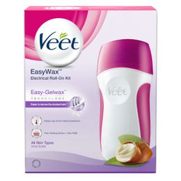 Veet EasyWax Electrical Roll-On Kit Easy-Gelwax technology Shea Butter 50 ml