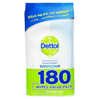 Dettol Antibacterial Disinfectant Wipes 180 Pack