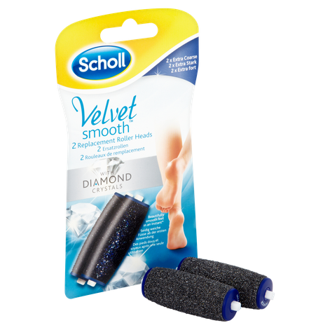 Scholl Velvet Smooth Express Pedi Replacement Roller Heads Extra Coarse