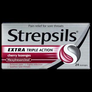 Strepsils Extra Triple Action Cherry Lozenges