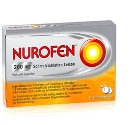 Nurofen ® 200mg Schmelztabletten Lemon 12 Schmelztabletten