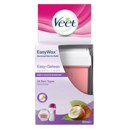 Veet EasyWax Electrical Roll-On Refill Easy-Gelwax technology Shea Butter Legs & Arms 50 ml