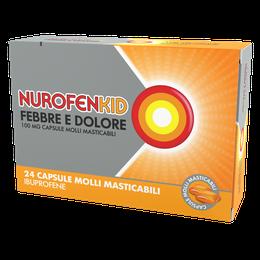 Nurofenkid Febbre e Dolore 100 mg, capsule molli masticabili