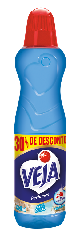 VEJA PERFUMES AZUL CORAL 500ML 30% DE DESCONTO