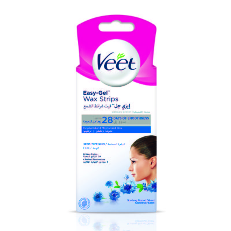 Get Rid Of Chin Hair With Veet Facial Hair Remover Face Wax Strips