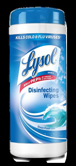 Lysol® Toallitas Desinfectantes para superficies Wipes -  Ocean Fresh