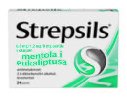 Strepsils pastile s okusom mentola i eukaliptusa