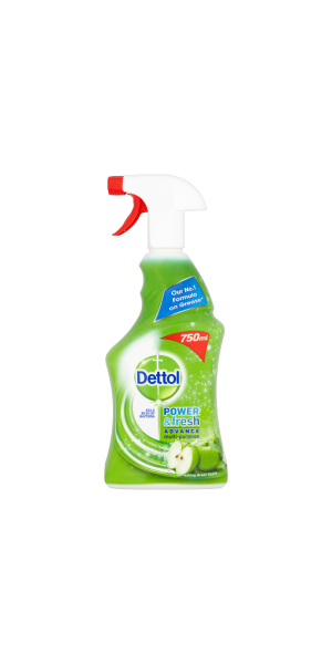Dettol Power & Fresh Antibacterial Advance Multi-Purpose Spray- Green Apple 500ml