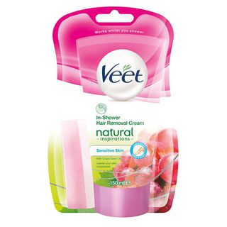 Veet Natural Inspirations® In-Shower Hair Removal Cream, Sensitive