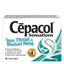 Cepacol Sensations - Sore Throat & Blocked Nose