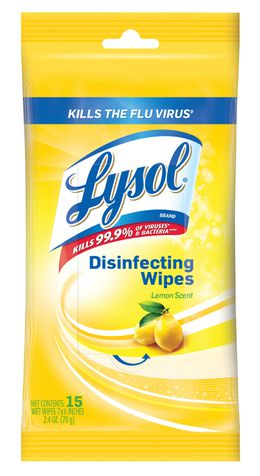 Lysol® Disinfecting Wipes - 15 Count - Lemon
