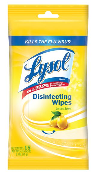 Lysol Disinfecting Wipes - 15 Count - Lemon